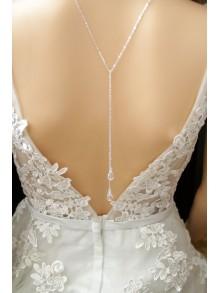 Collier de dos mariage, collier lariat lasso à nouer