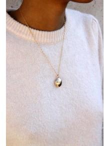 Pendentif cassolette porte photo ovale et sa chaîne