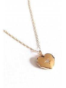 Pendentif cassolette porte photo coeur et sa chaîne