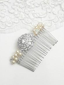 Peigne mariage, peigne mariée cristal, accessoire coiffure