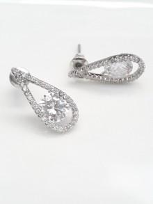 Boucles d'oreilles mariage larme goutte oxyde de zirconium