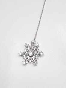 Bijou pendentif de dos mariage flocon de neige étoile oxyde de zirconium