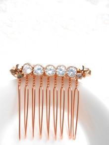 Peigne de mariée cristaux pour coiffure mariage