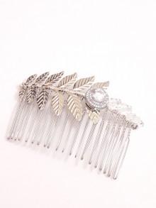 Peigne mariage feuilles et cristaux pour votre coiffure