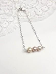 Bracelet en argent 925, trio perles de culture, bijoux mariage ou quotidien