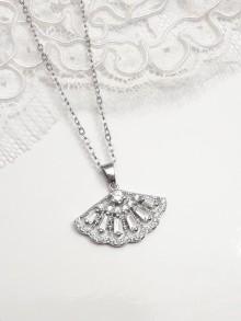 Pendentif collier de mariée éventail