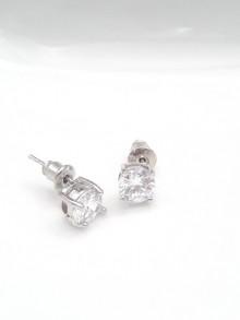 Clous d'oreilles solitaire strass zircons
