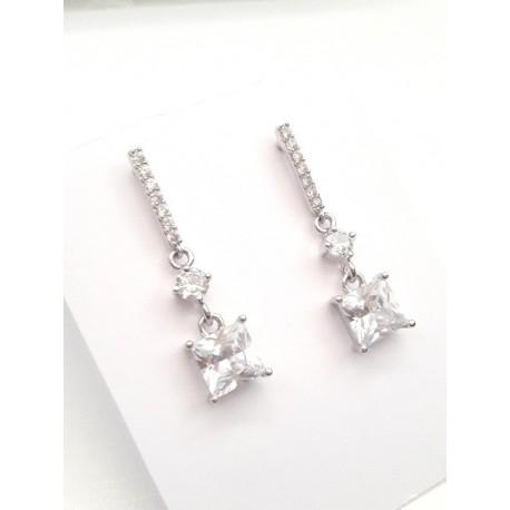 Clous boucles d'oreilles mariage zirconium