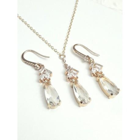 Parure bijoux mariage Crystal