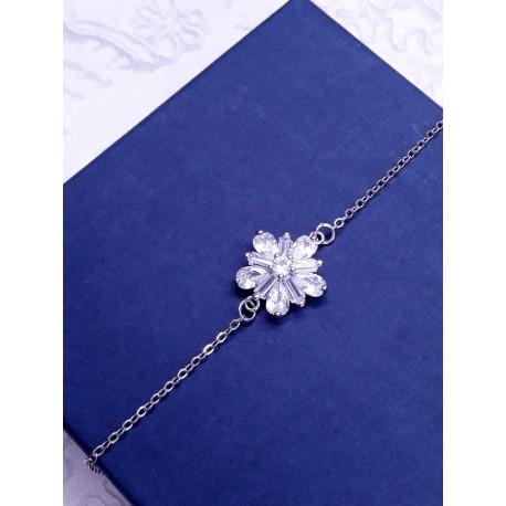 Bracelet mariage oxydes de zirconium, bracelet mariée strass, demoiselles d'honneur
