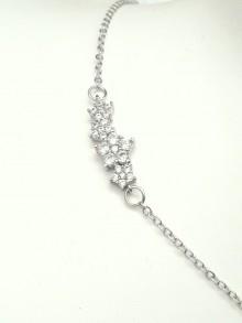 Bracelet en oxydes de zirconium pour la mariée