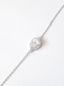 Bracelet mariage goutte strass en cristal