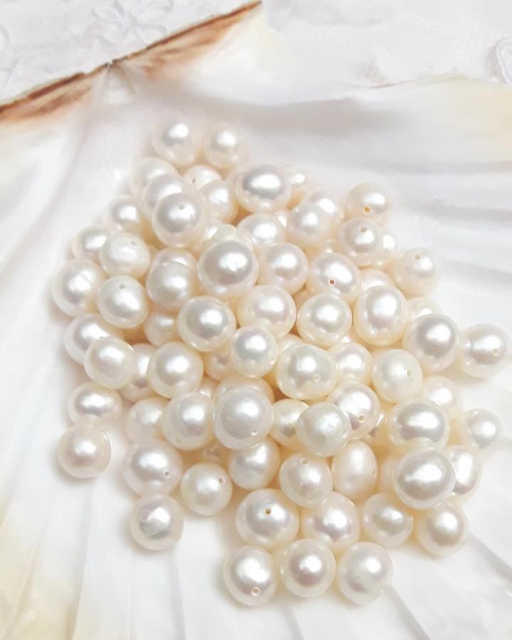 Perles de culture blanches
