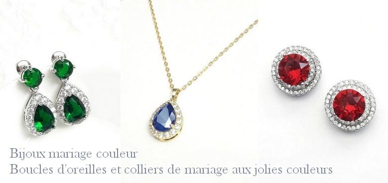 Bijoux mariage couleur