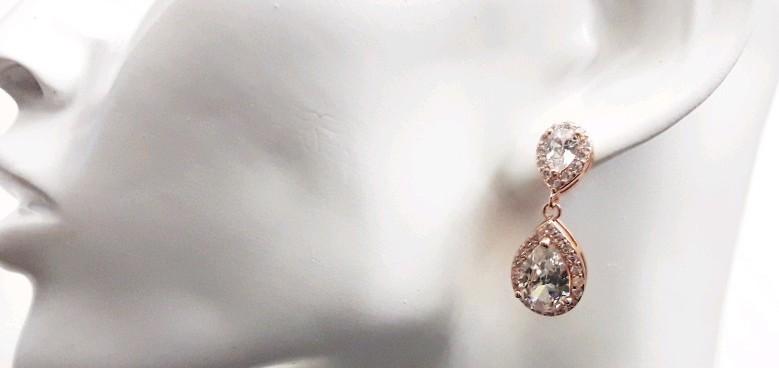Bijoux mariage et accessooires mariées rose gold
