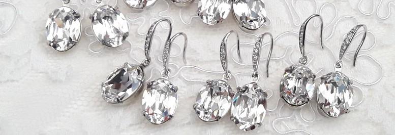 Boucles d'oreilles demoiselles d'honneur